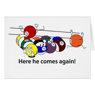 Here He Comes greeting card