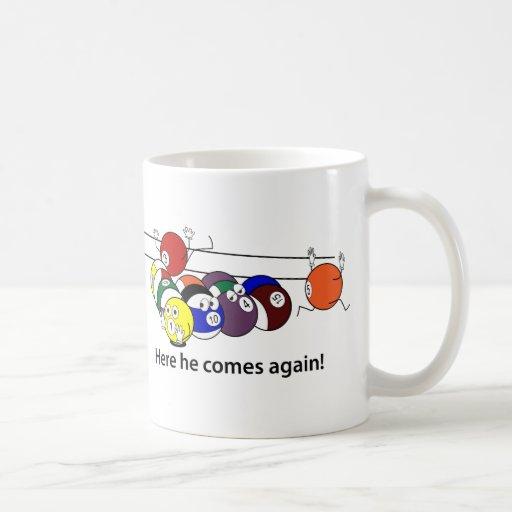 Here He Comes mugs