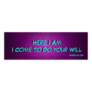 Here I Am (bookmark) - purple Pack Of Skinny Business Cards