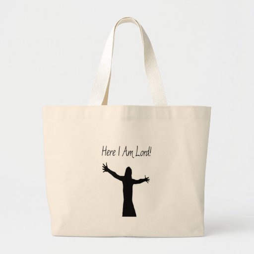 Here I Am Lord Tote Bags