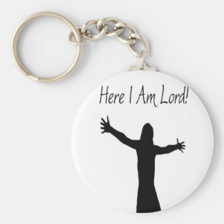 Here I Am Lord Basic Round Button Key Ring