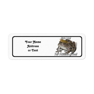 Here I am! Your Prince Has Arrived! Return Address Label