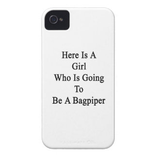 Here Is A Girl Who Is Going To Be A Bagpiper Case-Mate iPhone 4 Case