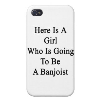Here Is A Girl Who Is Going To Be A Banjoist Covers For iPhone 4