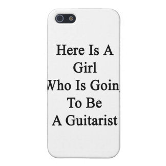 Here Is A Girl Who Is Going To Be A Guitarist iPhone 5 Covers