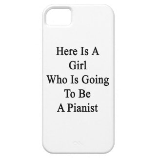 Here Is A Girl Who Is Going To Be A Pianist iPhone 5 Case