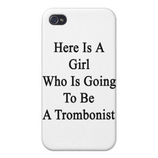 Here Is A Girl Who Is Going To Be A Trombonist iPhone 4 Case