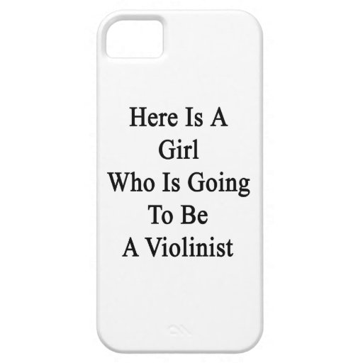 Here Is A Girl Who Is Going To Be A Violinist iPhone 5 Cover
