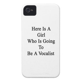 Here Is A Girl Who Is Going To Be A Vocalist iPhone 4 Cases
