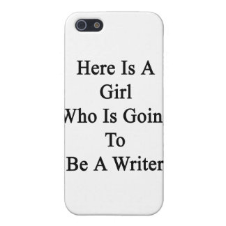 Here Is A Girl Who Is Going To Be A Writer iPhone 5 Cover
