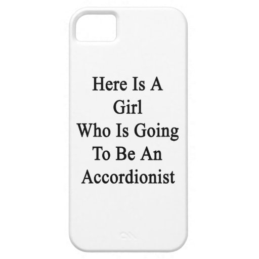 Here Is A Girl Who Is Going To Be An Accordionist. iPhone 5 Case