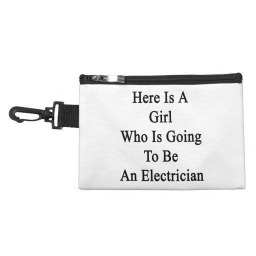 Here Is A Girl Who Is Going To Be An Electrician Accessory Bags