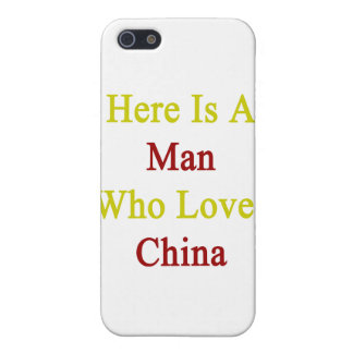 Here Is A Man Who Loves China iPhone 5/5S Cases