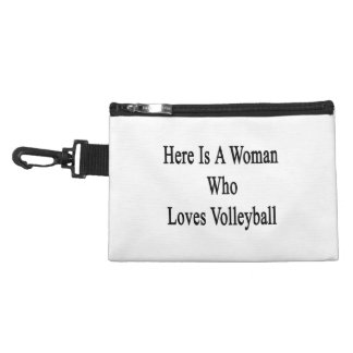 Here Is A Woman Who Loves Volleyball Accessories Bags