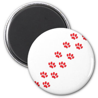 Here Kitty Cat Paws 6 Cm Round Magnet