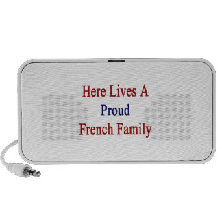 Here Lives A Proud French Family Notebook Speakers