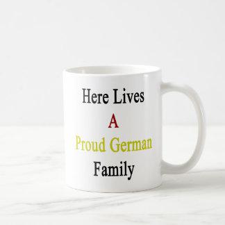 Here Lives A Proud German Family Basic White Mug
