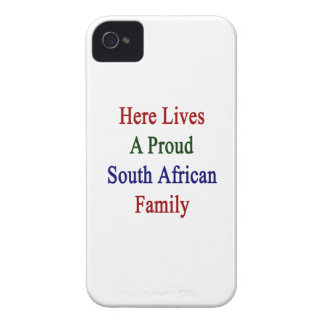 Here Lives A Proud South African Family Case-Mate iPhone 4 Case