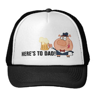 Here s to Dad Father s Day Toast Mesh Hat