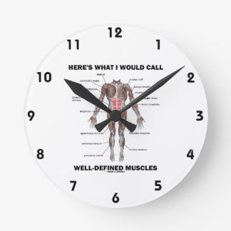 Here s What I Would Call Well-Defined Muscles Wall Clock