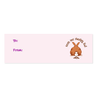 Here s Your Chocolate Gift Tags Business Cards