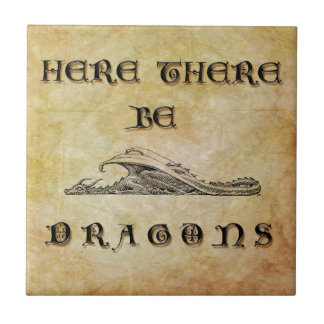 Here There Be Dragons Tile