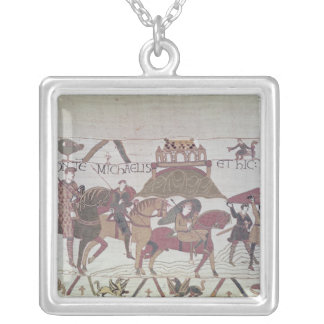Here they cross the River Couesnon Silver Plated Necklace