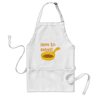 Here to SATAY cooking in a fry pan Standard Apron