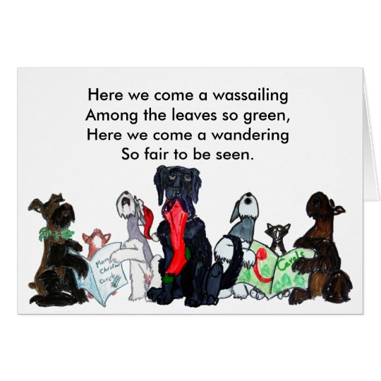 Here we come a wassailing... card