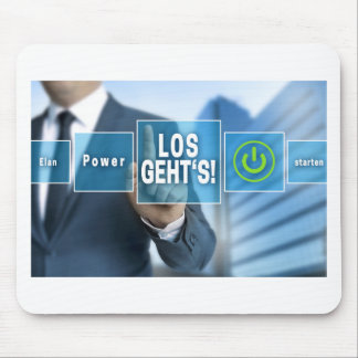 Here we go (german los gehts) touchscreen concept mouse mat