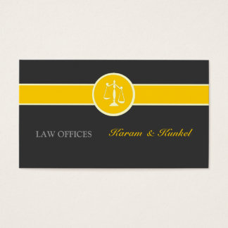 Here you Glow Attorney Justice Scales Business Card