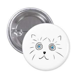 Here Zen Cat Button Badge