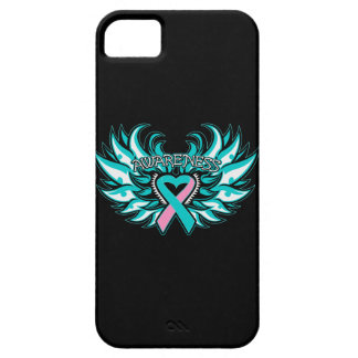 Hereditary Breast Cancer Awareness Heart Wings iPhone 5 Cases