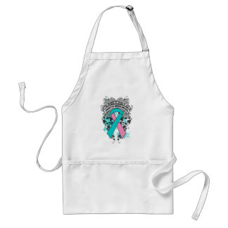 Hereditary Breast Cancer - Cool Support Awareness Adult Apron