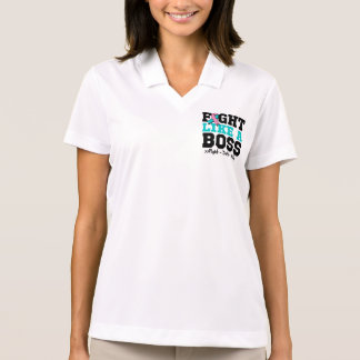 Hereditary Breast Cancer Fight Like a Boss Polo T-shirt