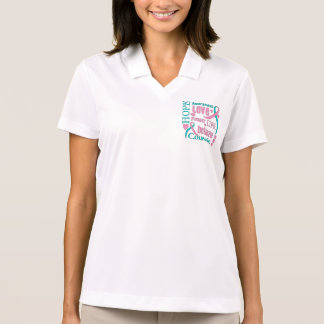 Hereditary Breast Cancer Hope Words Collage Polo Shirt