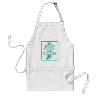 Hereditary Breast Cancer Keep Calm and Carry ON Standard Apron