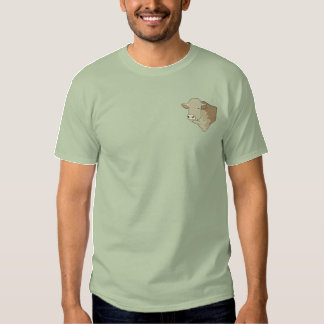 Hereford Bull Head Embroidered T-Shirt