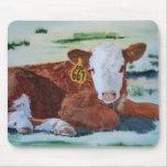 Hereford Calf Mousepads