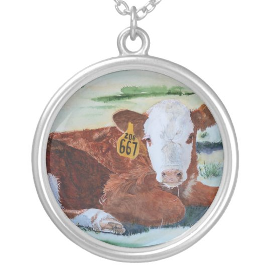 Hereford Calf Silver Plated Necklace