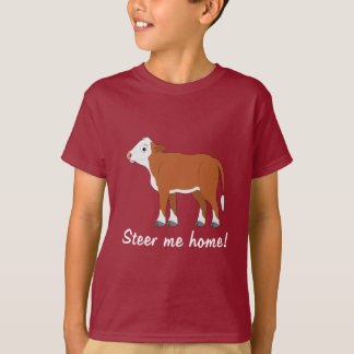 Hereford Calf: Steer me Home T-Shirt