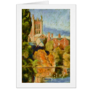 Hereford Cathedral Blank Greeting Card