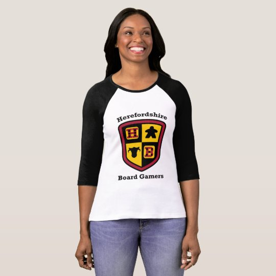 Herefordshire Board Gamers ladies baseball T-shirt