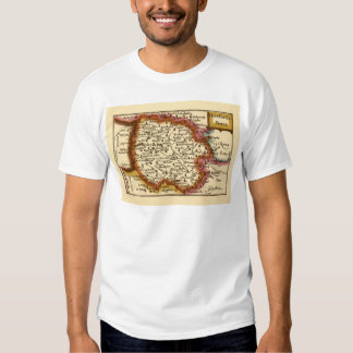 Herefordshire County Map, England Tshirt