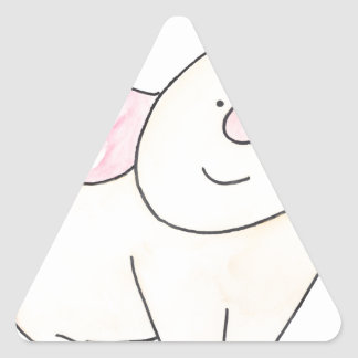Here's looking at you Pig cutout by Serena Bowman Triangle Sticker