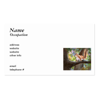 Here's Looking At You Squirrel Business Card