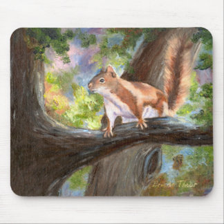 Here's Looking At you Squirrel Mousepad