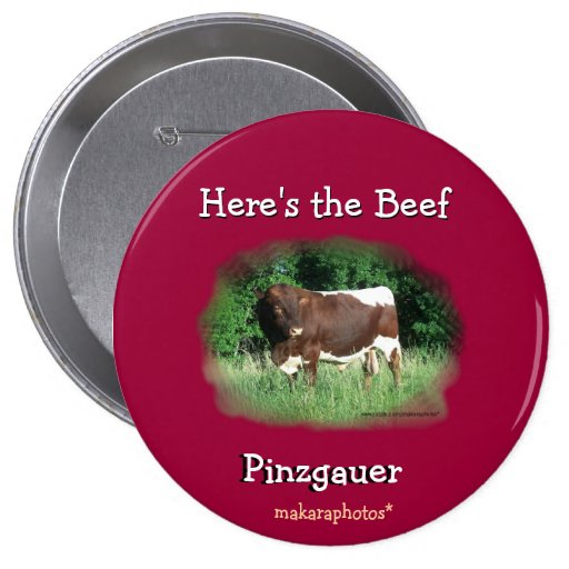 Here's the Beef Pin-customize