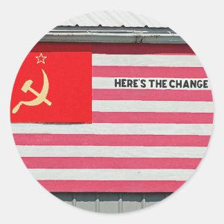 Here's the Change! Sticker