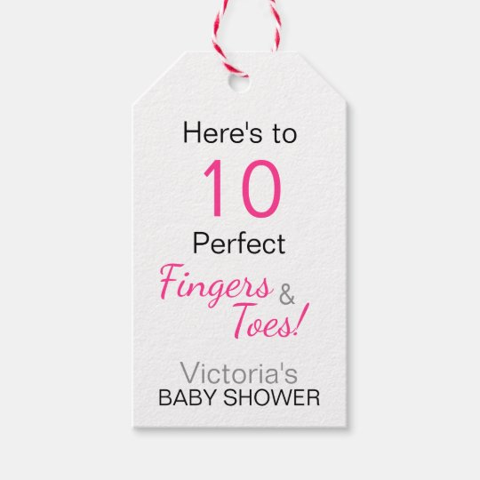 'Here's to 10 Perfect Fingers & Toes' Baby
